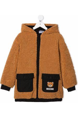Moschino Jongens Bomberjacks - Teddy bear-motif hooded jacket