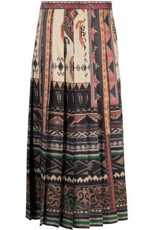 Etro Dames Geprinte rokken - Geometric-print pleated skirt
