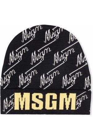 Msgm Mutsen - TEEN intarsia-knit logo beanie