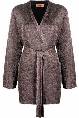 Missoni Dames Cardigans - Metallic-threading belted cardigan