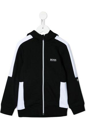 HUGO BOSS Jongens Bomberjacks - Two-tone zip-up jacket