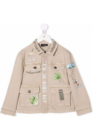 MONNALISA Leaf-print jacket