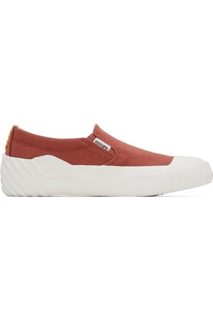 Kenzo Red Tiger Crest Slip-On Sneakers