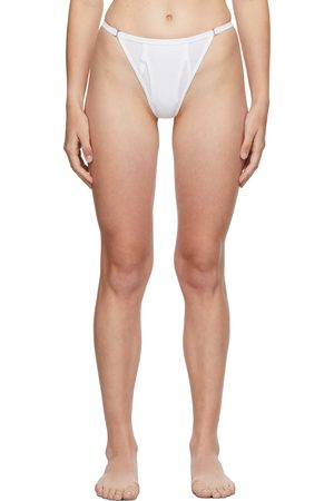 DION LEE White Y-Front Unisex Thong