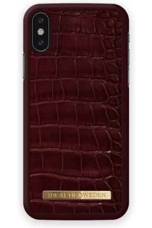 Ideal of sweden Croco Case iPhone X Claret Croco