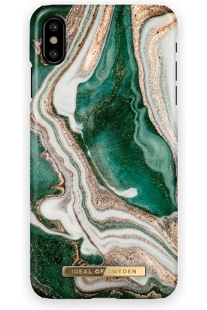 Ideal of sweden Fashion Case iphone X Golden Jade Marble