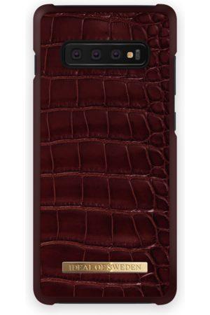 Ideal of sweden Telefoon hoesjes - Croco Case GALAXY S10+ Claret Croco