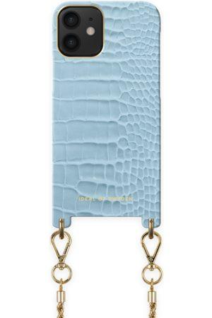 Ideal of sweden Atelier Necklace Case iPhone 12 Mini Sky Blue Croco