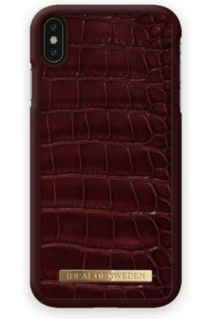Ideal of sweden Croco Case iPhone XS Max Claret