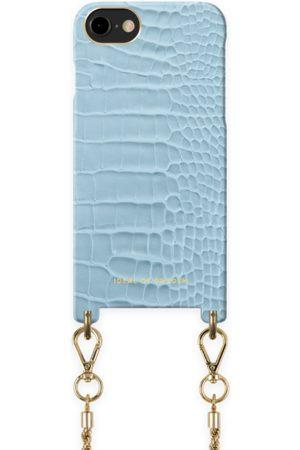 Ideal of sweden Atelier Necklace Case iPhone 8 Sky Blue Croco