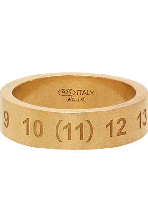 Maison Margiela Heren Ringen - Gold Polished Numbers Ring