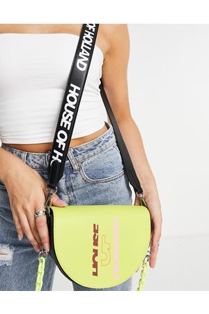 House of Holland Crossbody saddle bag in green