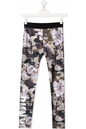 DKNY TEEN camouflage-print fleece leggings