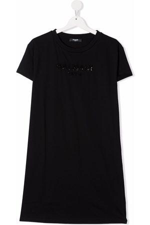 Balmain Meisjes Casual jurken - TEEN embroidered logo T-shirt dress