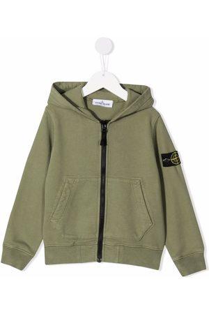 Stone Island Logo-patch zipped hoodie