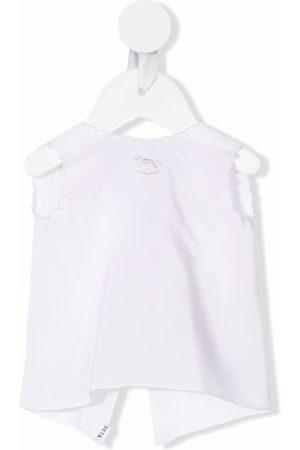 Mariella Ferrari Scalloped sleeveless waistcoat jacket