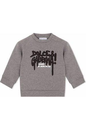Dolce & Gabbana Graffiti logo print sweatshirt