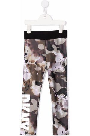 DKNY Camouflage-print fleece leggings