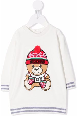 Moschino Teddy bear-print sweater dress