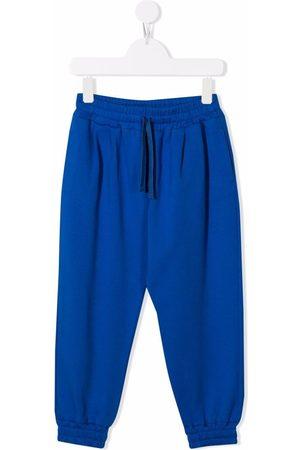 Dolce & Gabbana Drawstring-waist track stretch-cotton trousers