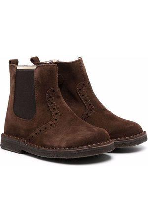 Il gufo Slip-on suede boots