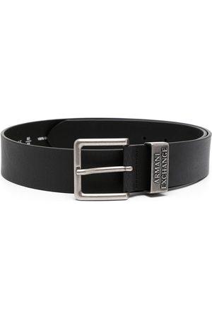 Armani Heren Riemen - Logo-embossed leather belt
