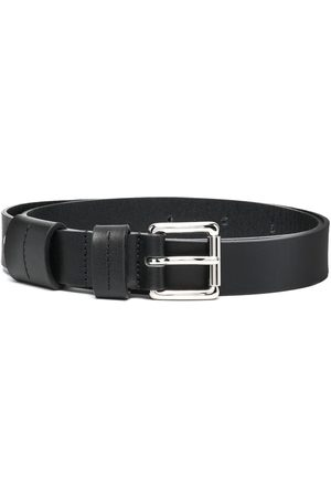 Ami Square-buckle leather belt
