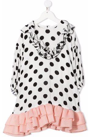Wauw Capow by Bangbang Meisjes Casual jurken - Polka do-print cotton dress