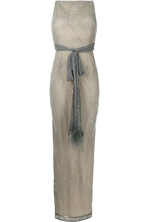 RACHEL GILBERT Dames Feestjurken - Tied-waist embellished gown