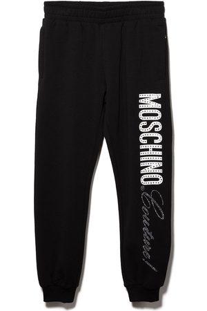 Moschino Meisjes Joggingbroeken - Couture! rhinestone-embellished track pants