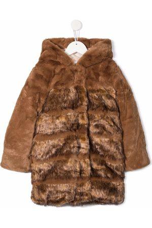Chloé Faux fur hooded coat