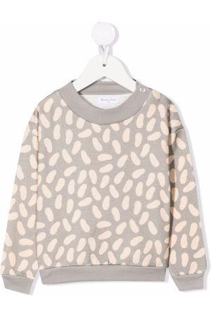 Studio Clay Sweaters - Bean-print crew neck sweatshirt