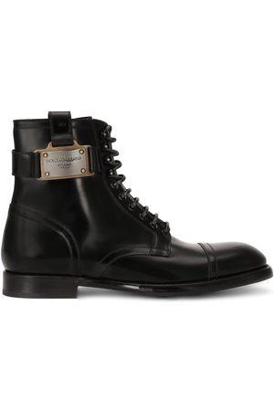 Dolce & Gabbana Heren Enkellaarzen - Logo-plaque ankle boots