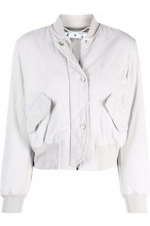 OFF-WHITE Hands Off logo bomber jacket