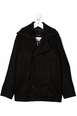 Givenchy Jongens Donsjassen - Logo print double breasted coat