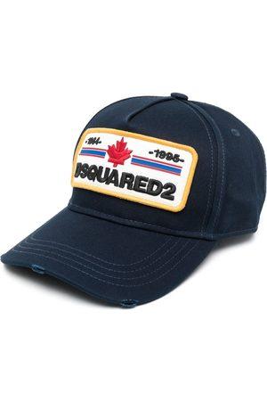 Dsquared2 Heren Petten - Distressed-effect logo-patch baseball cap