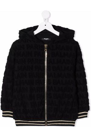 Balmain Contrast-trim cotton hoodie