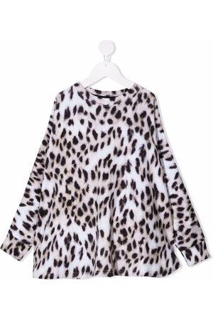 Molo Meisjes Sweaters - Leopard-print organic-cotton sweatshirt