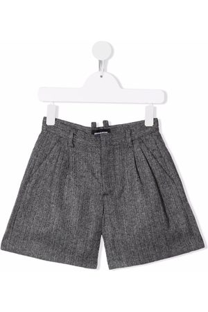 Dsquared2 Meisjes Shorts - Pleated wool shorts