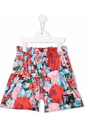 Msgm Meisjes Shorts - Floral print shorts