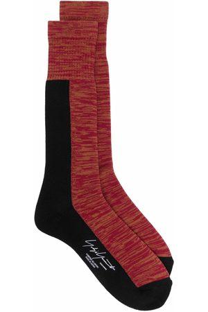 YOHJI YAMAMOTO Heren Sokken - Patterned calf-length socks