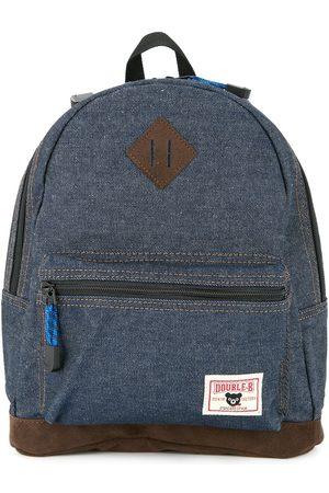 Miki House Jongens Rugzakken - Logo-patch denim backpack