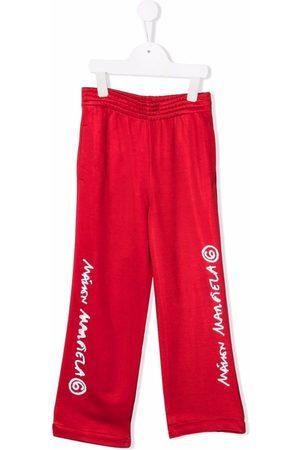 MM6 KIDS Meisjes Wijde broeken - Logo-print wide-leg trousers
