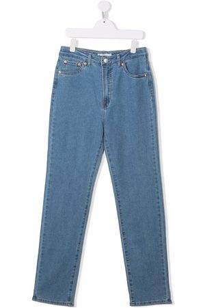 Levi's TEEN Ribcage straight-leg ankle jeans