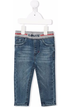Levi's Logo embroidered skinny jeans