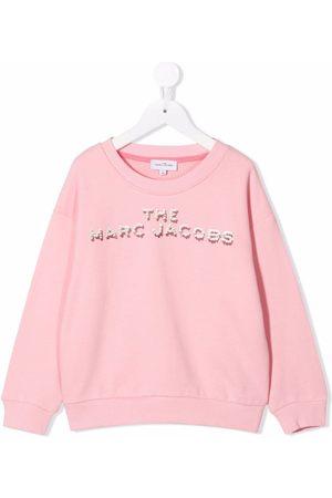 The Marc Jacobs Meisjes Sweaters - Logo crew-neck sweatshirt
