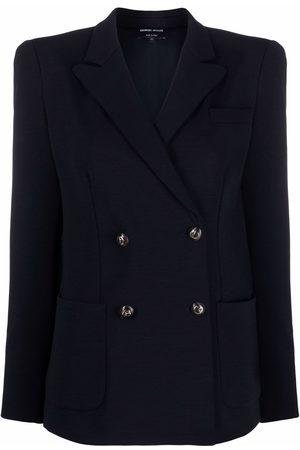 Armani Double-breasted tailored blazer
