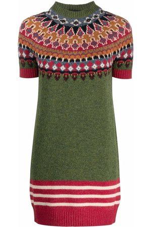Dsquared2 Dames Gebreide jurken - Intarsia-knit wool jumper dress