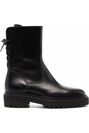 Officine creative Lace-up calf-length leather boots
