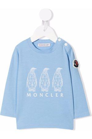 Moncler Sweaters - Logo-print T-shirt